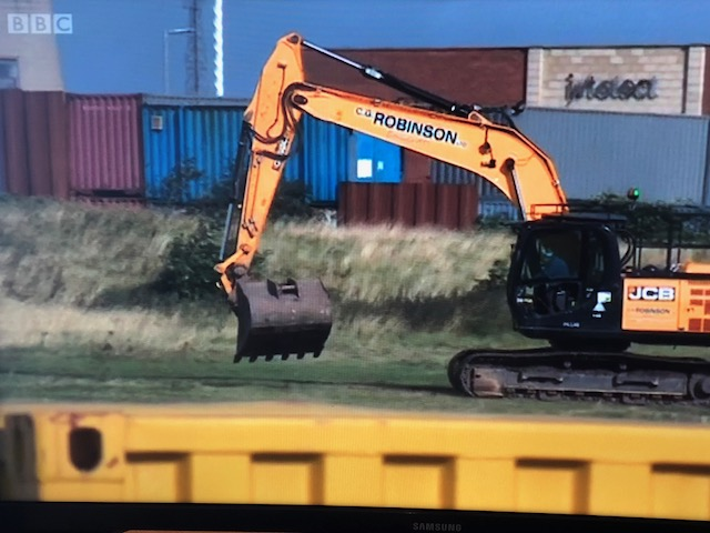 A C.G. Robinson JCB Excavator As Seen On BBC Look North